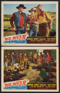 """Movie Posters:Western, Red River (United Artists, 1948). Lobby Cards (2) (11"""" X 14"""").Western.. ... (Total: 2 Items)"""