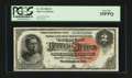Large Size:Silver Certificates, Fr. 243 $2 1886 Silver Certificate PCGS Very Fine 35PPQ....