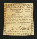 Colonial Notes:Rhode Island, Rhode Island May 22, 1777 $1/18 Very Fine....
