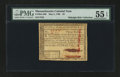 Colonial Notes:Massachusetts, Massachusetts May 5, 1780 $3 PMG About Uncirculated 55 EPQ....