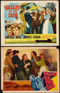 """Movie Posters:Western, Valley of the Sun (RKO, 1942 & R-1953). Lobby Cards (2) (11"""" X14""""). Western.. ... (Total: 2 Items)"""