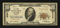 National Bank Notes:Missouri, Jasper, MO - $10 1929 Ty. 1 The First NB Ch. # 6369. ...