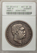 Coins of Hawaii: , 1883 $1 Hawaii Dollar--Scratched--ANACS. XF Details Net VF30. NGCCensus: (10/264). PCGS Population (25/510). Mintage: 500,...