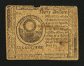 Colonial Notes:Continental Congress Issues, Continental Currency July 22, 1776 $30 Fine....
