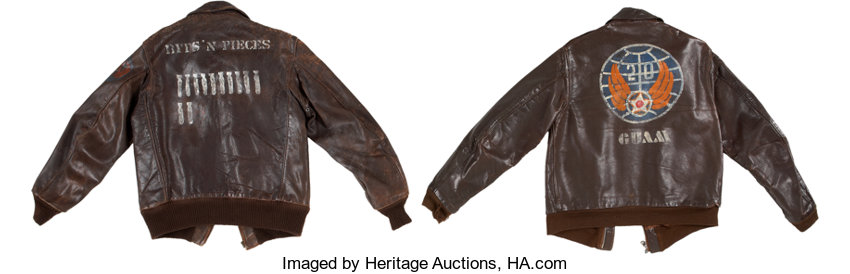 Pair Of Magnificent Wwii Painted Leather Flight Jackets Lot