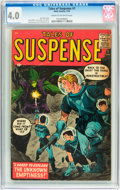 Silver Age (1956-1969):Science Fiction, Tales of Suspense #1 (Marvel, 1959) CGC VG 4.0 Cream to off-whitepages....