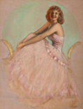 Pin-up and Glamour Art, ROLF ARMSTRONG (American, 1889-1960). Pin-Up in Pink. Pastelon board. 27.5 x 36.5 in.. Not signed. ...
