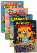 Golden Age (1938-1955):Cartoon Character, Walt Disney's Comics and Stories Group (Dell, 1944-49).... (Total:4 Comic Books)