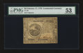 Colonial Notes:Continental Congress Issues, Continental Currency February 17, 1776 $6 PMG About Uncirculated53....