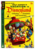Silver Age (1956-1969):Cartoon Character, Vacation in Disneyland #1 (Gold Key, 1965) Condition: VF....