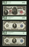 Large Size:Group Lots, A Miscellaneous Group of Large Size Notes.... (Total: 3 notes)