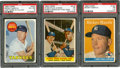 Baseball Cards:Lots, 1958 & 1969 Topps Mickey Mantle PSA-Graded Trio (3). ...