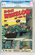 Golden Age (1938-1955):War, Don Winslow of the Navy #13 Pennsylvania pedigree (Fawcett, 1944)CGC VF+ 8.5 Off-white pages....