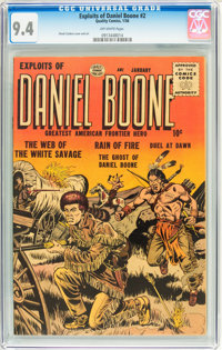 Exploits of Daniel Boone #2 (Quality, 1956) CGC NM 9.4 Off-white pages