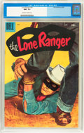 Silver Age (1956-1969):Western, Lone Ranger #97 (Dell, 1956) CGC NM+ 9.6 Off-white to whitepages....
