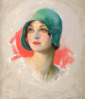 Mainstream Illustration, GUY HOFF (American, 1889-1962). Portrait of a Pretty Girl.Pastel on board. 20 x 17 in.. Signed lower left. ...