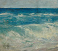 Mainstream Illustration, WILLIAM HENRY DETHLEF KOERNER (American, 1878-1938).Seascape, 1921. Oil on canvas. 13.5 x 15.5 in.. Signed lowerleft. ...
