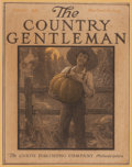 Mainstream Illustration, TOM JOHNSON (American, 20th Century). Country Gentlemancover, October 1916. Mixed media on board. 17 x 13 in.. Signedl...