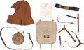 Military & Patriotic:Indian Wars, Eight Indian Wars and Spanish-American War Era U.S. Army Items.... (Total: 8 Items)