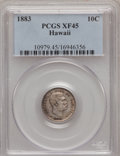 Coins of Hawaii: , 1883 10C Hawaii Ten Cents XF45 PCGS. PCGS Population (56/287). NGCCensus: (25/201). Mintage: 250,000. (#10979)...