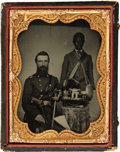 Autographs:Military Figures, Colonel Benjamin Watson Ambrotype, with Accompanying Album. ... (Total: 2 Items)