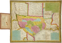 Samuel Augustus Mitchell: 1835 New Map of Texas, with the Contiguous American & Mexican States<