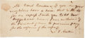 "Autographs:Statesmen, Stephen F. Austin Autograph Document Signed. One page, 8"" x 3.5"",n.p., [ca. November 1836]. Austin, acting as the first..."