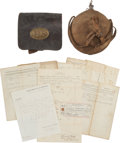 Military & Patriotic:Civil War, Civil War Grouping of James Johnston, C. H 144th New York Vol. Inf.... (Total: 2 Items)