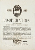 Miscellaneous:Broadside, Anti-Secession South Carolina Broadside from 1851....