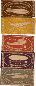 Military & Patriotic:WWI, Aviation Related Tobacco Advertising Premiums, Circa 1910....