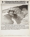 "Military & Patriotic:WWI, 1919 Associated News Service Supplement ""Beautiful Girl Sent byAerial Post!""...."