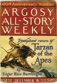 """Argosy All-Story Weekly """"Tarzan and the Golden Lion"""" Group (Miscellaneous Publishers, 1922-23) Condition: Aver..."""