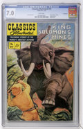 Golden Age (1938-1955):Classics Illustrated, Classics Illustrated #97 King Solomon's Mines First Edition - Vancouver pedigree (Gilberton, 1952) CGC FN/VF 7.0 White pages....