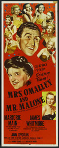 "Movie Posters:Mystery, Mrs. O'Malley and Mr. Malone (MGM, 1951). Insert (14"" X 36"").Mystery. ..."