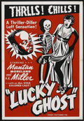 """Movie Posters:Black Films, Lucky Ghost (Toddy Pictures, R-1943). One Sheet (27"""" X 41""""). BlackFilms. ..."""