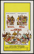 "Movie Posters:Comedy, Yours, Mine and Ours (United Artists, 1968). Window Card (14"" X 22""). Comedy. ..."