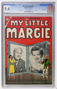 My Little Margie #1 Double Cover (Charlton, 1954) CGC NM 9.4 Off-white to white pages