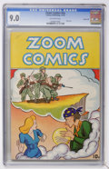Golden Age (1938-1955):War, Zoom Comics #nn Carson City pedigree (Carlton Publishing, 1945) CGCVF/NM 9.0 Off-white pages....