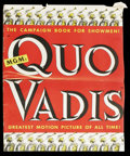"Movie Posters:Historical Drama, Quo Vadis (MGM, 1951). Pressbook (17"" X 22"", 50 pages). Drama. ..."