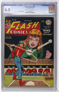 Flash Comics #90 (DC, 1947) CGC FN 6.0 Off-white to white pages