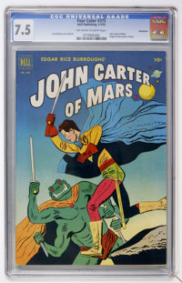 Four Color #375 John Carter of Mars - Vancouver pedigree (Dell, 1952) CGC VF- 7.5 Off-white to white pages