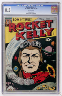Rocket Kelly #1 (Fox Features Syndicate, 1944) CGC VF+ 8.5 Off-white pages