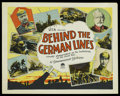 "Movie Posters:Documentary, Behind the German Lines (Paramount, 1928). Half Sheet (22"" X 28""). Documentary. ..."