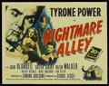 "Movie Posters:Film Noir, Nightmare Alley (20th Century Fox, 1947). Half Sheet (22"" X 28""). Film Noir. ..."