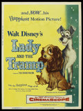 "Movie Posters:Animated, Lady and the Tramp (Buena Vista, 1955). Poster (30"" X 40"").Animated. ..."