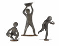 Sculpture, David Cargill (American, born 1928). . Playing Children. 1983. Bronze. Unmarked . 46 inches high . ... (Total: 3 Items)