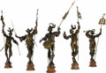 Fine Art - Sculpture, European:Antique (Pre 1900), Five Important Bronze Figures: Herauts d'Armes. . Guillaumede Groot (1839-1922), Brussels, Belgium. 19th century. ... (Total:5 Items)