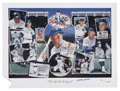 "Baseball Collectibles:Others, Mickey Mantle Signed Lithograph. The 20x27"" litho called ""Life of aLegend"" is from the art of Fogarty and depicts the hist..."