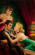 Paintings, CLARENCE DOORE (American, 20th Century). The Spitfires (Whirlwind in Petticoats), paperback cover, 1953. Oil on board. 3...