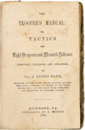 Military & Patriotic:Civil War, Confederate Imprint: The Trooper's Manual: Or, Tactics For Light Dragoons and Mounted Riflemen... by Col. J. Luciu...